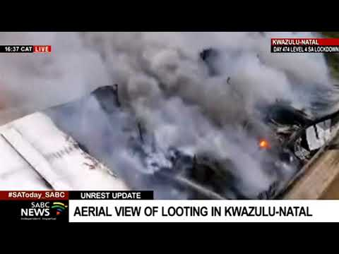 KZN Unrest   A chemical factory up in flames in the Durban industrial area