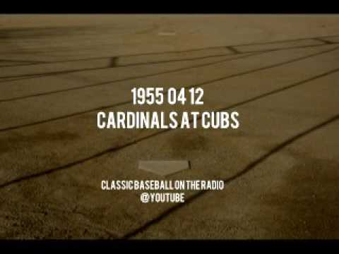 1955 04 12 Cardinals at Chicago Cubs