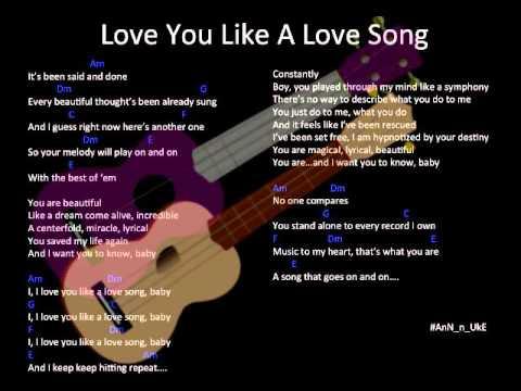 Love You Like A Love Song Selena Gomez Ukulele Cover Annnuke