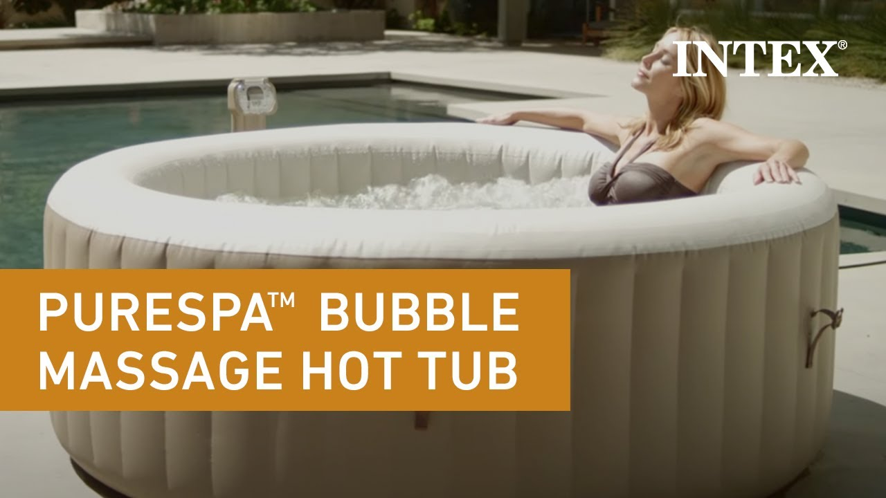Intex PureSpa Portable Bubble Massage Hot Tub - YouTube