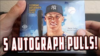 *BRAND NEW* 2017 TOPPS CHROME BASEBALL BOX OPENING! *5 AUTOGRAPH PULLS*