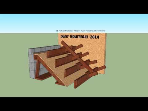 Coffrage d'escalier de béton   Concrete stairs animation