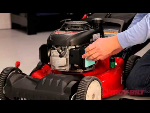 how to change the air filter | troy-bilt walk-behind lawn mower ...