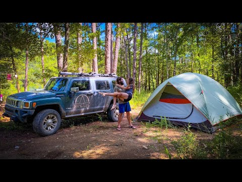 Tent Camping Adventure | Exploring Brushy Creek
