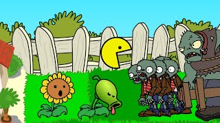 Dhannu's PLANTS vs ZOMBIES - Episode 12 - Pac-Man in PvsZ ANIMATION!