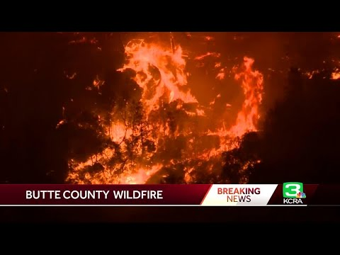 Ash Falls As Sun Sets On Raging Wildfire In Butte County