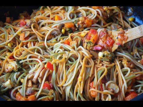 Spaghetti Vegetables Špageti sa povrćem - Sašina kuhinja