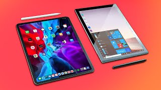"iPad Pro (12.9"" + 11"") 2020 vs Surface Pro 7 | Note-taking Comparison!"