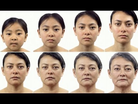 Time lapse video shows 'little girl growing into an old woman'