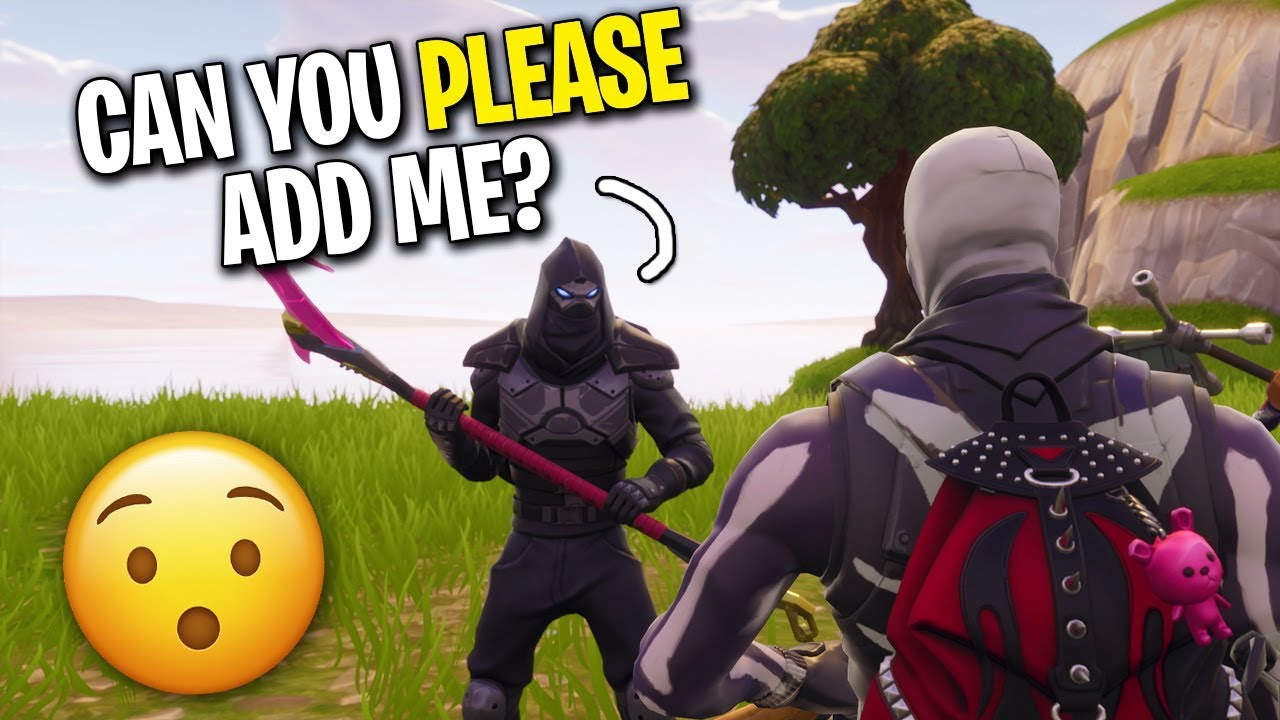 SURPRISING HUGE FAN WITH A FRIEND REQUEST ON FORTNITE! (HE ...