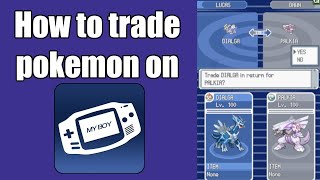 trade pokemon emulator