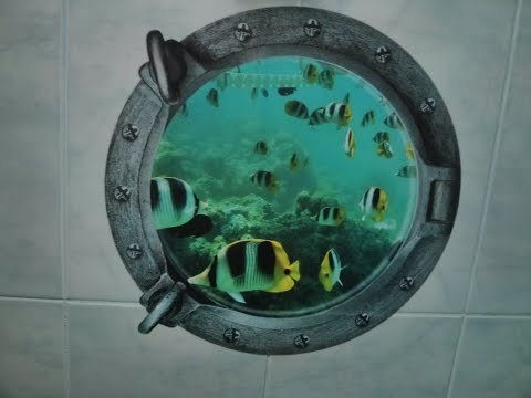 3D Underwater World And Fish Wall Stickers - GearBest обзор