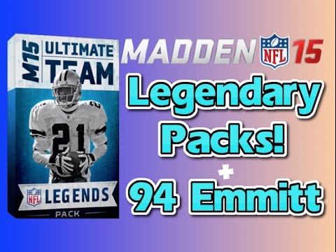 Madden 15 Ultimate Team - Legendary Pack Pulls! + Legend Emmitt Smith + Gene Upshaw!