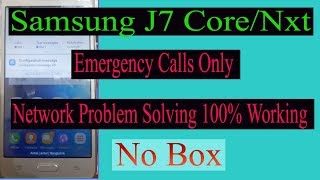 how to solve samsung j7 prime (sm-J701F) emergency calls