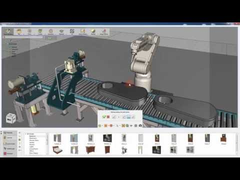 SimLab Composer / tutorial for simulating industrial robots