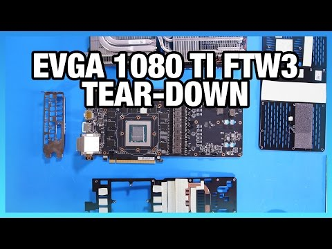 EVGA 1080 Ti FTW3 Tear-Down & Preliminary PCB Specs - YouTube