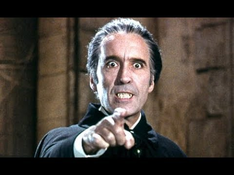Sir Christopher Lee scolds Peter Cushing for eating too many sweets