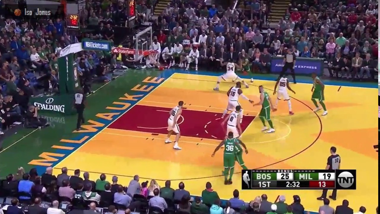 Kyrie Irving beats Giannis Antetokounmpo and does a sweet reverse lay up  Boston vs Milwaukee 7a99f3367