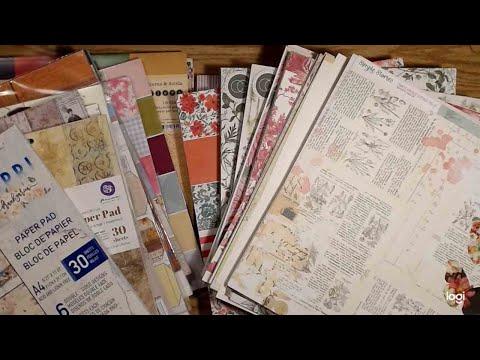 Scrapbook Paper Unboxing, Scrapbook.com, Hobby Lobby, Craft Consortium