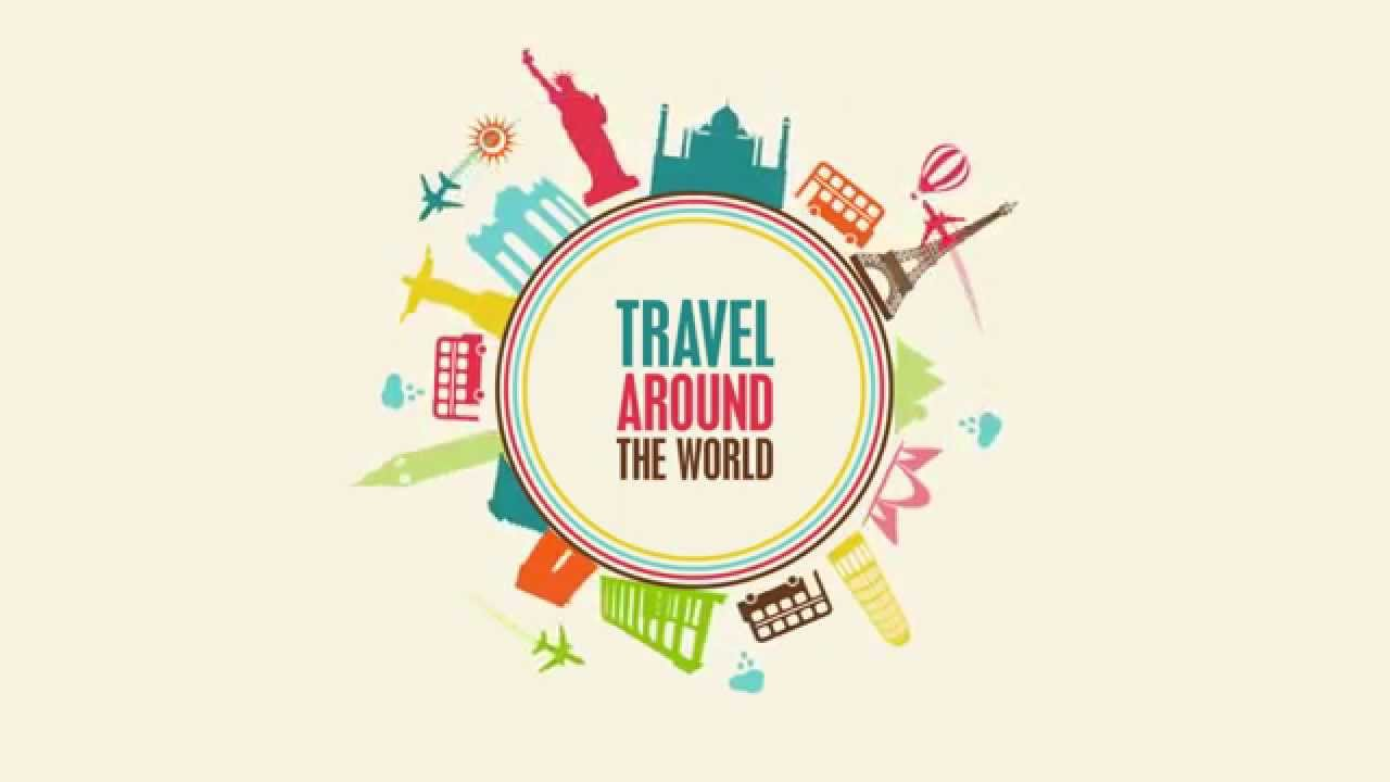 TRAVEL AROUND THE WORLD - Motion Graphics Test - YouTube