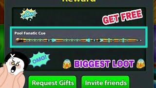 8 Ball Pool Get Free [ Pool Fanatic Cue ] Biggest Reward Link LOOT Offer 100% Working Trick 😱👍