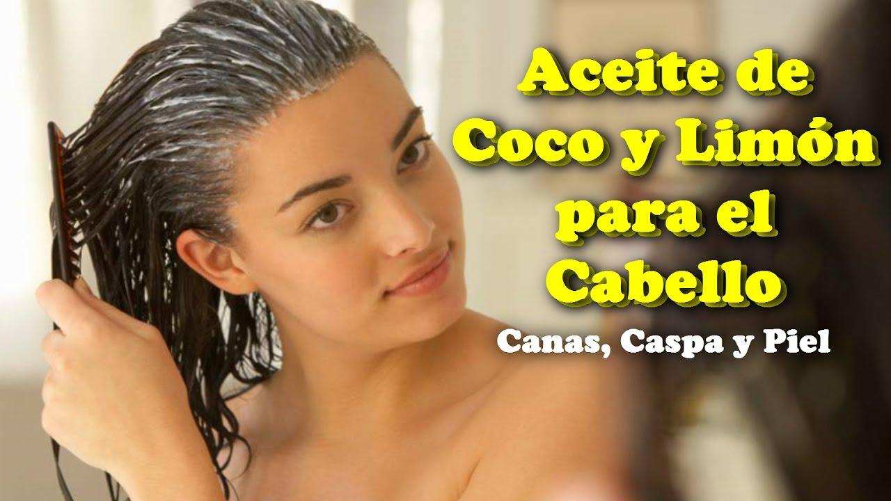 aceite de coco para el cabello canas