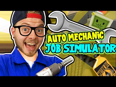 SquiddyPlays - JOB SIMULATOR! (HTC Vive) - AUTO MECHANIC!
