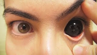 How to: Insert And Remove Black Sclera Contact Lenses (Fxeyes)