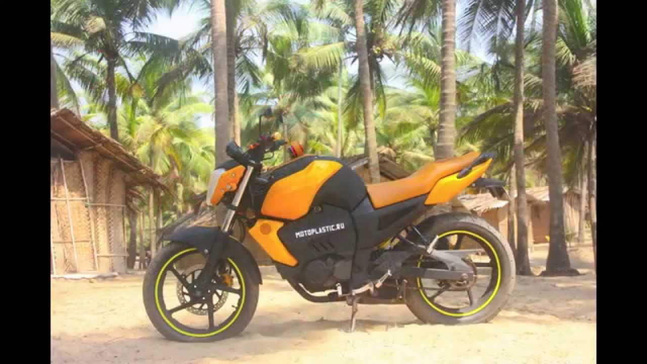 moto tuning yamaha fz 125 motoplastic goa 2014 youtube. Black Bedroom Furniture Sets. Home Design Ideas