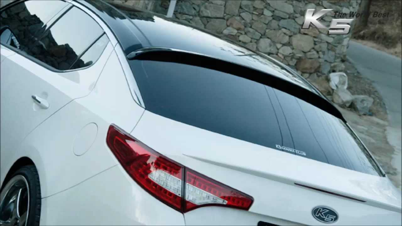Kia Optima K5 2012 Rear Glass Wing Spoiler Aero Youtube