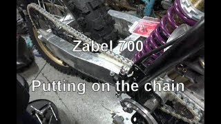 Zabel 700 Dirtbike Build Part 9: Putting on the chain