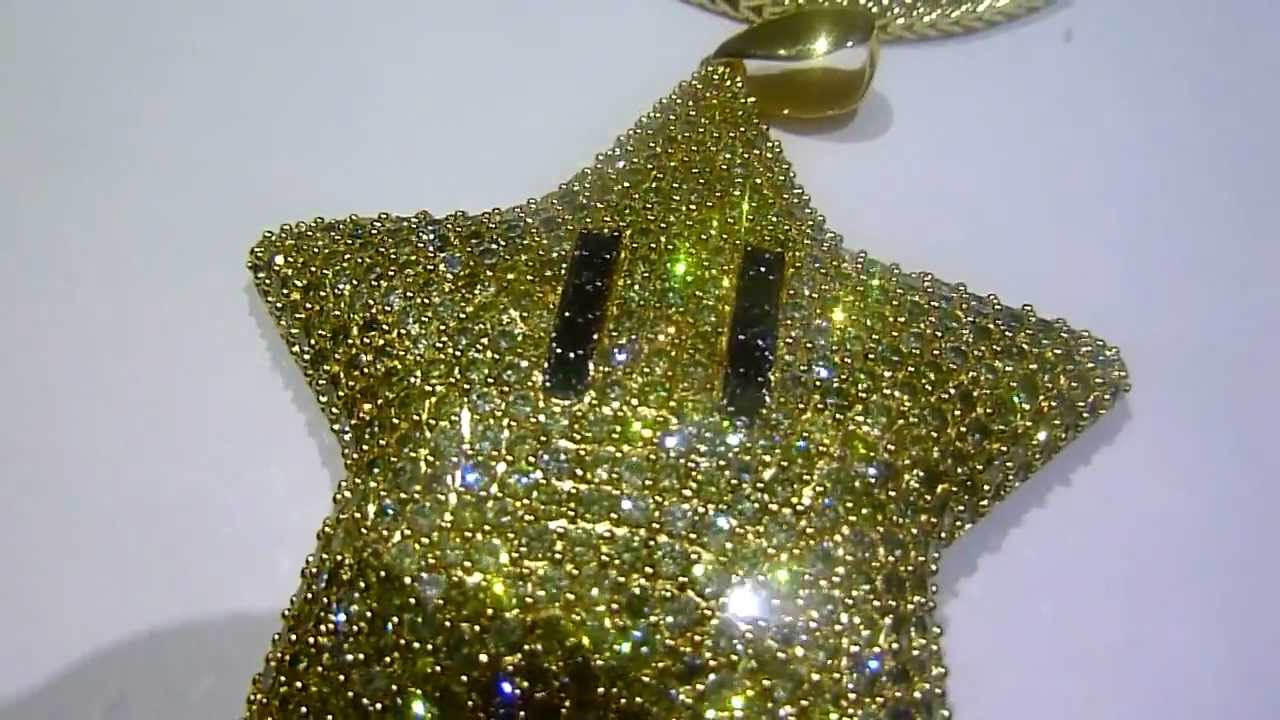 Custom invincibility star thanks to my customer for the for Custom lab made hip hop jewelry