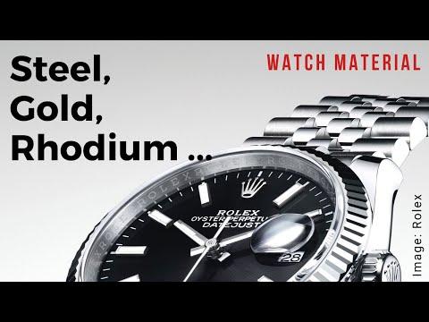 Wrist Watch Material – Gold, Steel, Rhodium & More