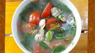 Cách nấu Canh Hến  rau Thì là giải nhiệt mùa nóng