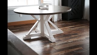 How to Cut Round Tabletops with a Circular Saw, Build a Round Farmhouse Table