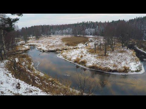 Река Свольна возле деревни Доброплёсы. Первый снег. River Svolna near Dobroplesy village. Firs snow.
