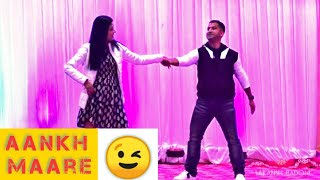 Best Couple Choreography || Aankh Maare - Simmba, Mercy Me || Awesome Wedding Sangeet Dance