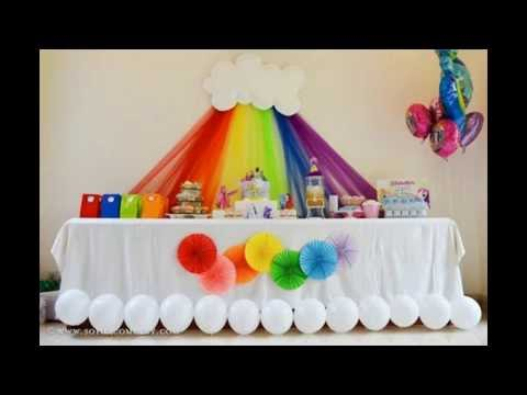rainbow birthday party ideas YouTube