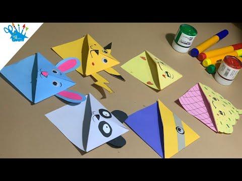 Cute DIY Easy Corner Bookmarks | Corner Bookmarks | creative
