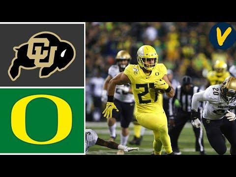 Colorado Vs #13 Oregon   Week 7   College Football Highlights   2019