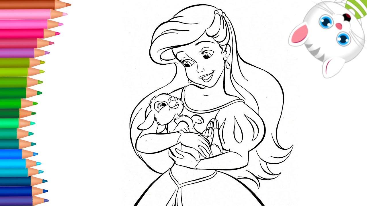 La sirenetta ariel disney principessa come disegnare e for La sirenetta da stampare