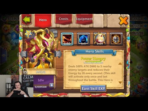 JT's Main ASURA Double Evolved New Talent Augmented Traits Castle Clash
