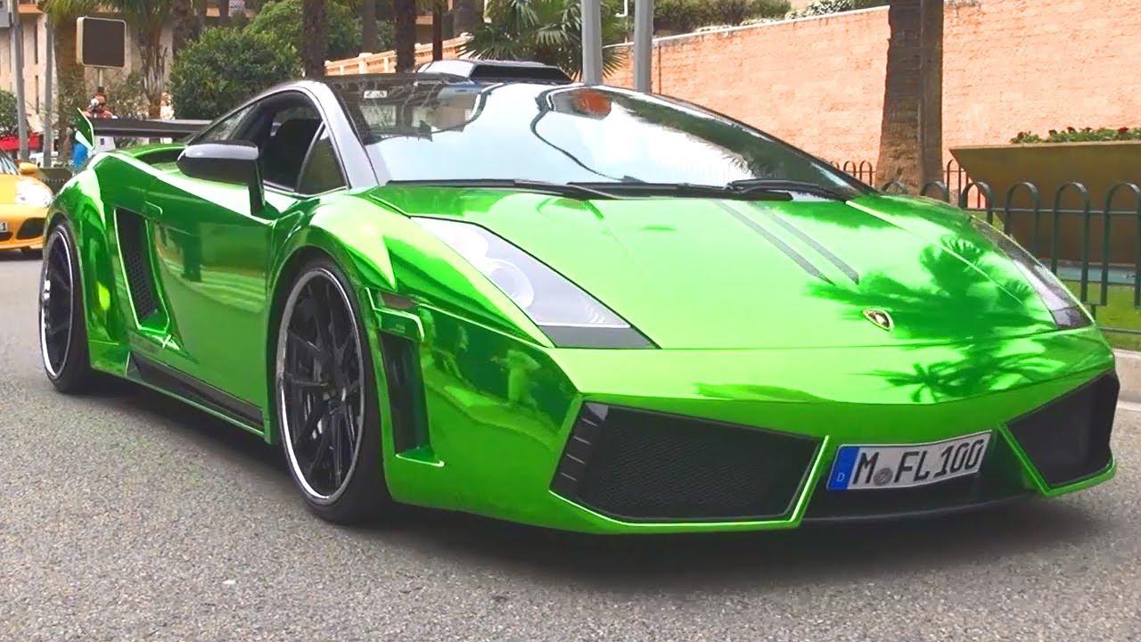Lamborghini Gallardo Chrome Green Wrap Foliert Folierung Folie V10