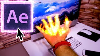 как сделать на видео эффект огня