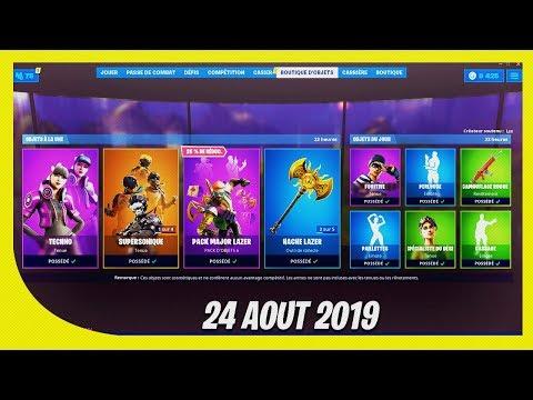 BOUTIQUE FORTNITE du 24 Aout 2019 ! ITEM SHOP August 24 2019 !