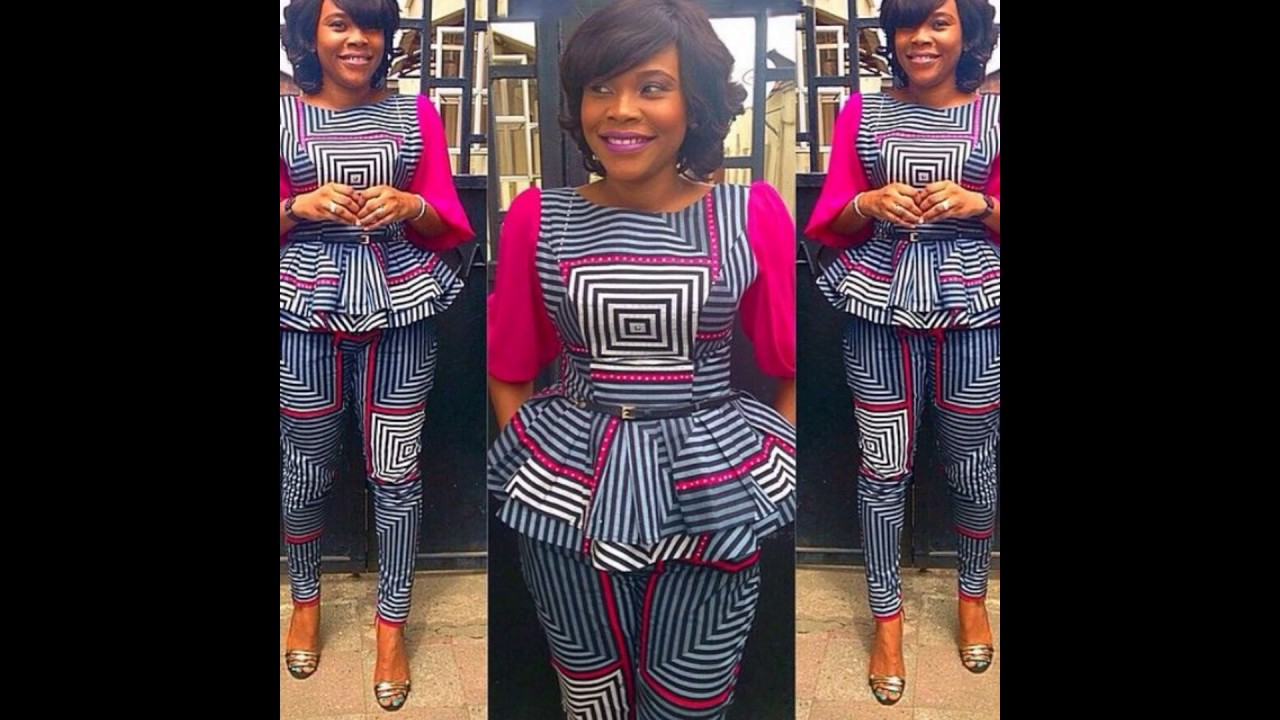Latest Ankara Peplum Top Styles For Ladies Youtube