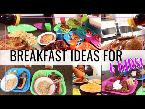 What My 6 KIDS Eat For BREAKFAST! | Simple Meal Ideas For Picky Kids! | #BlendedFamily