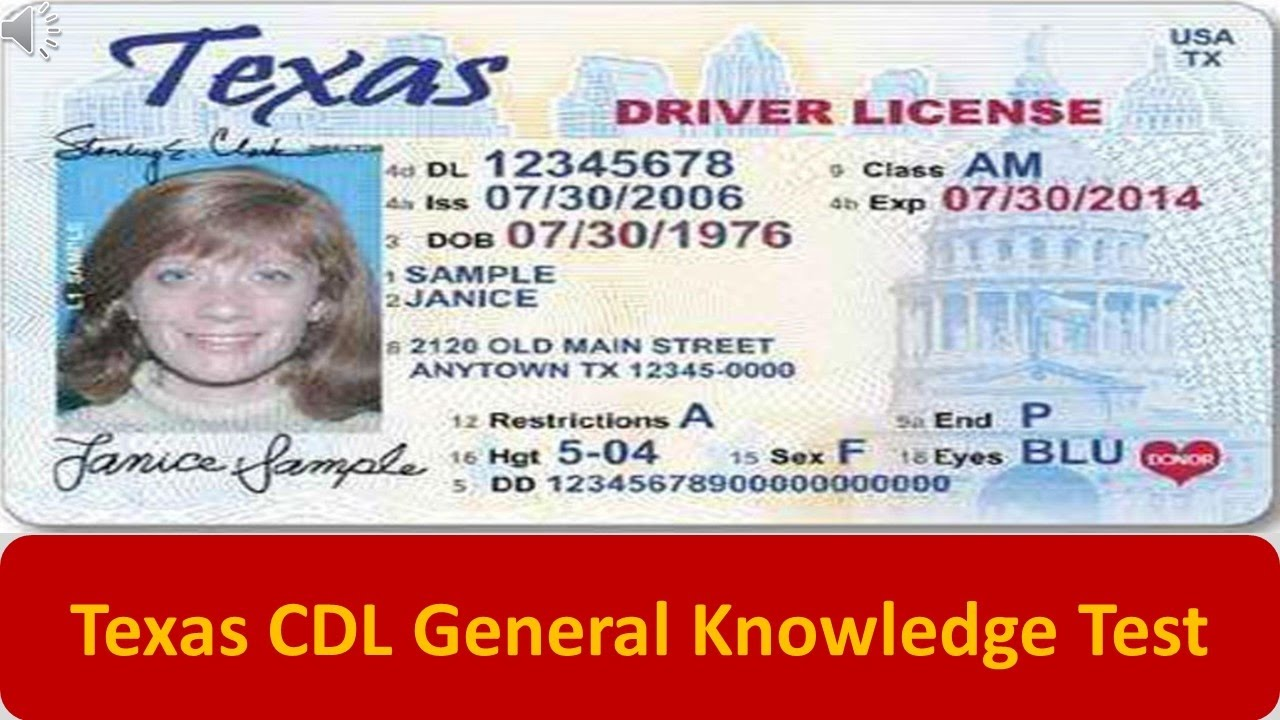 change address on texas cdl drivers license
