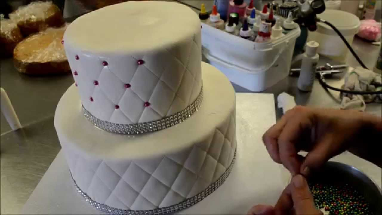 How To Make Diamond Patterns Birthday Cake Youtube