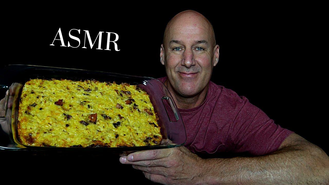 ASMR: AMISH BREAKFAST CASSEROLE (EATING SOUNDS) STORYTIME~SOFT SPOKEN